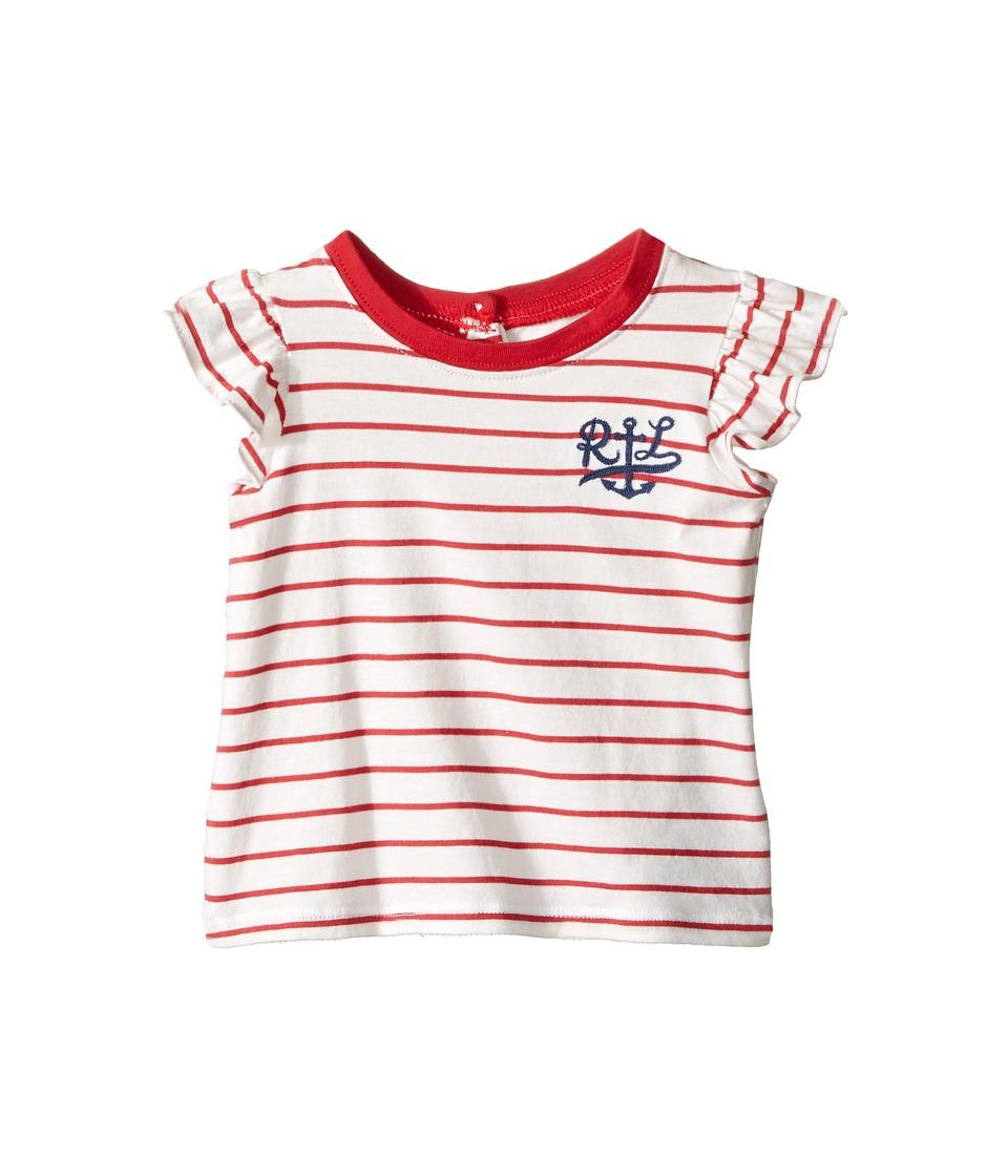 Ralph Lauren Baby - Jersey Anchor Tee (Infant) (Sedona Orange/Nevis) Girl's T Shirt