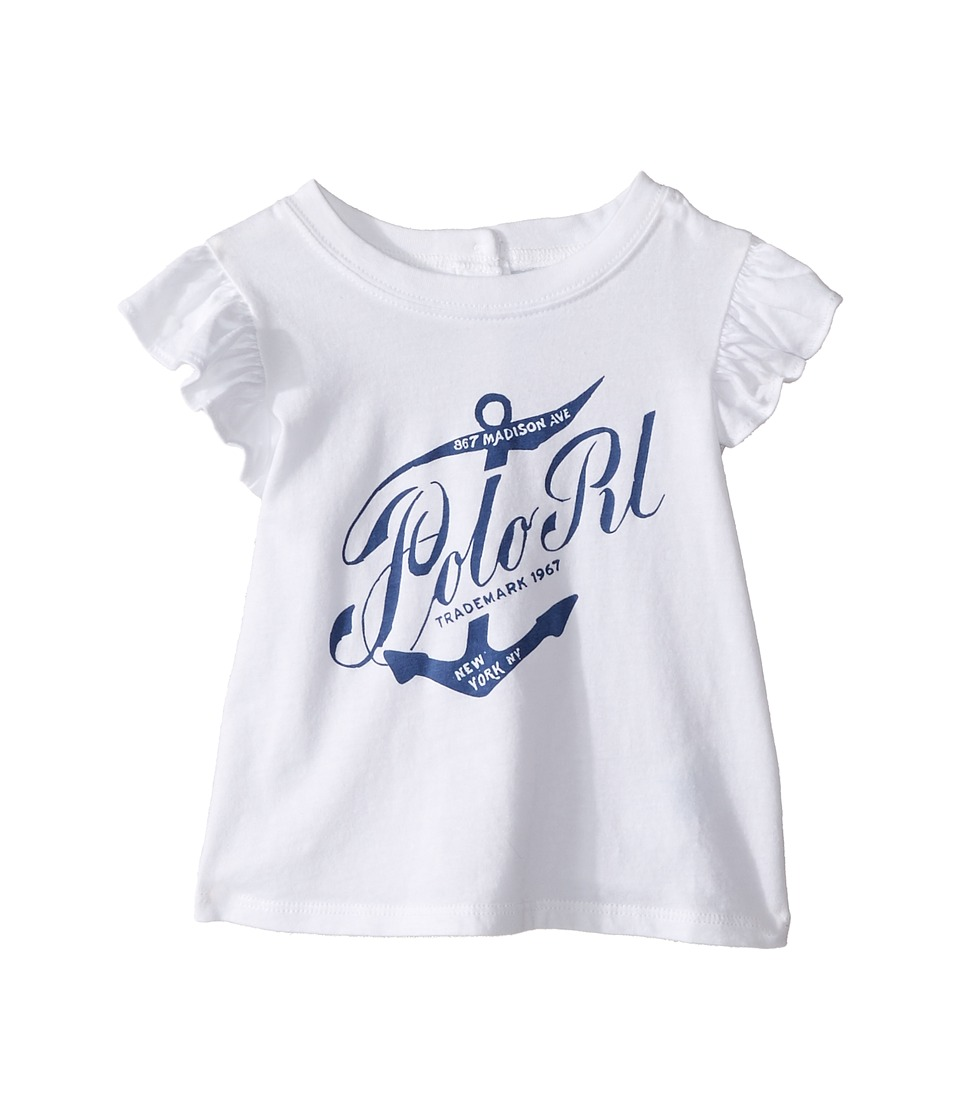 Ralph Lauren Baby - Jersey Whale Tee (Infant) (White) Girl's T Shirt