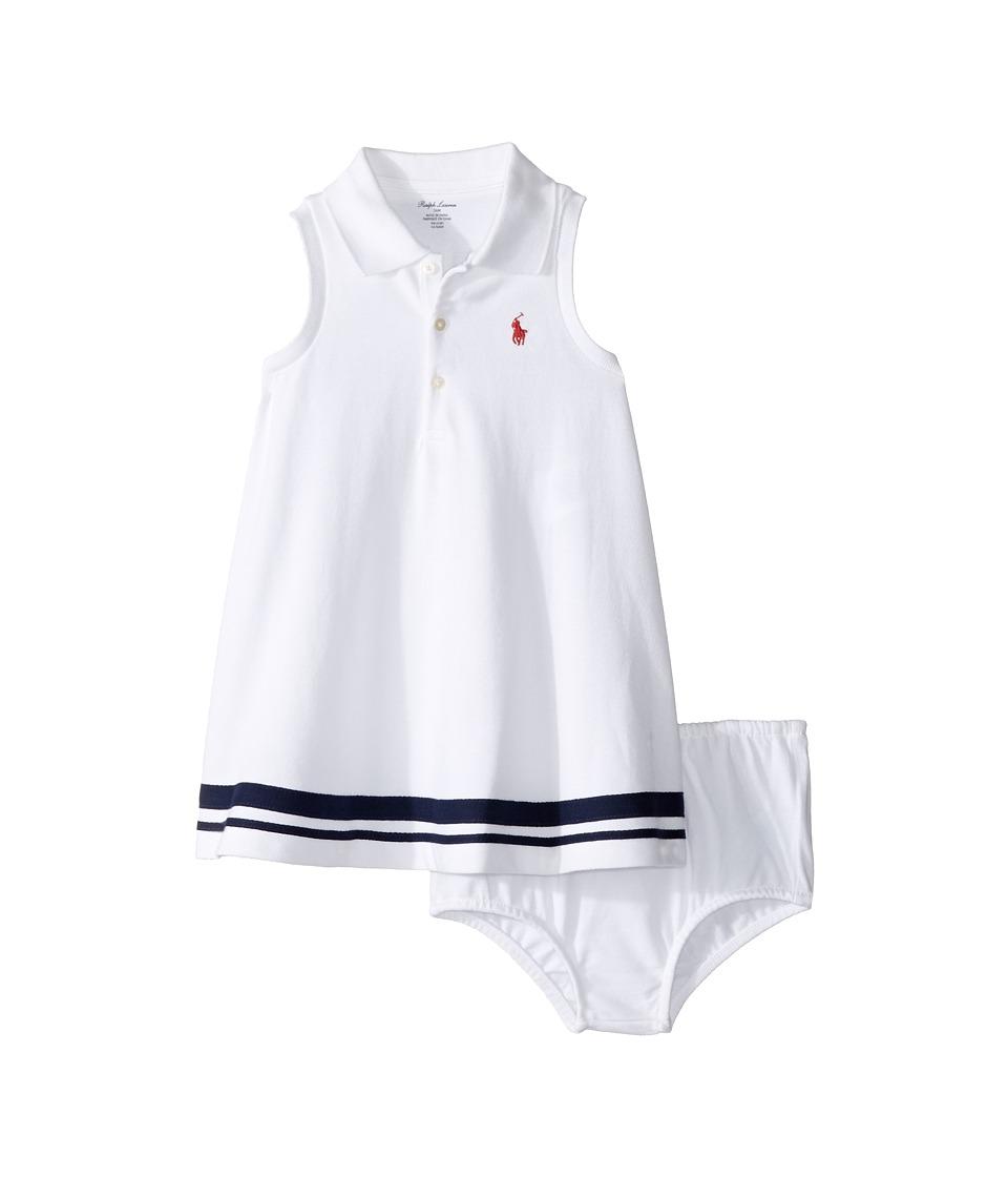 Ralph Lauren Baby - Mesh Nautical Dress (Infant) (White) Girl's Dress