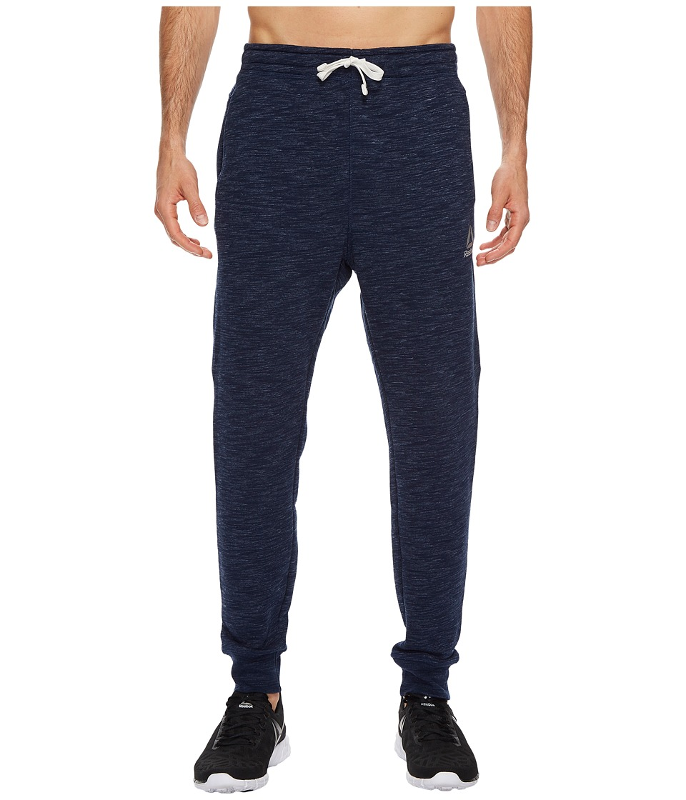 Reebok - Elements Prime Group Marble Melange Pants (Collegiate Navy) Men's Workout