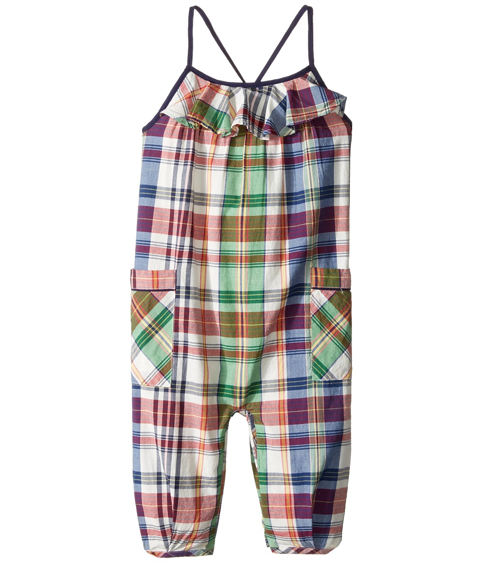 Ralph Lauren Baby - Madras Plaid Romper (Infant) (White/Multi Plaid) Girl's Jumpsuit & Rompers One Piece