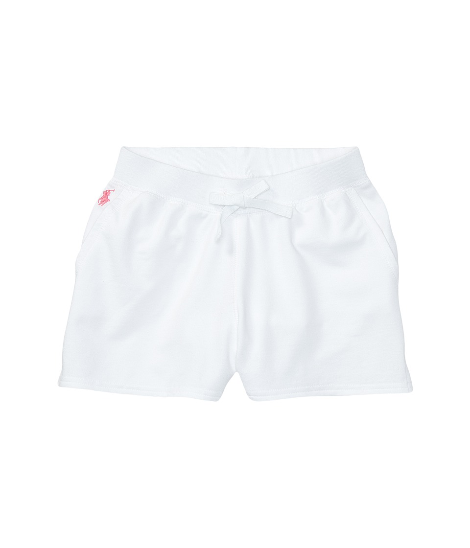 Polo Ralph Lauren Kids - Terry Solid Shorts (Little Kids/Big Kids) (White) Girl's Shorts