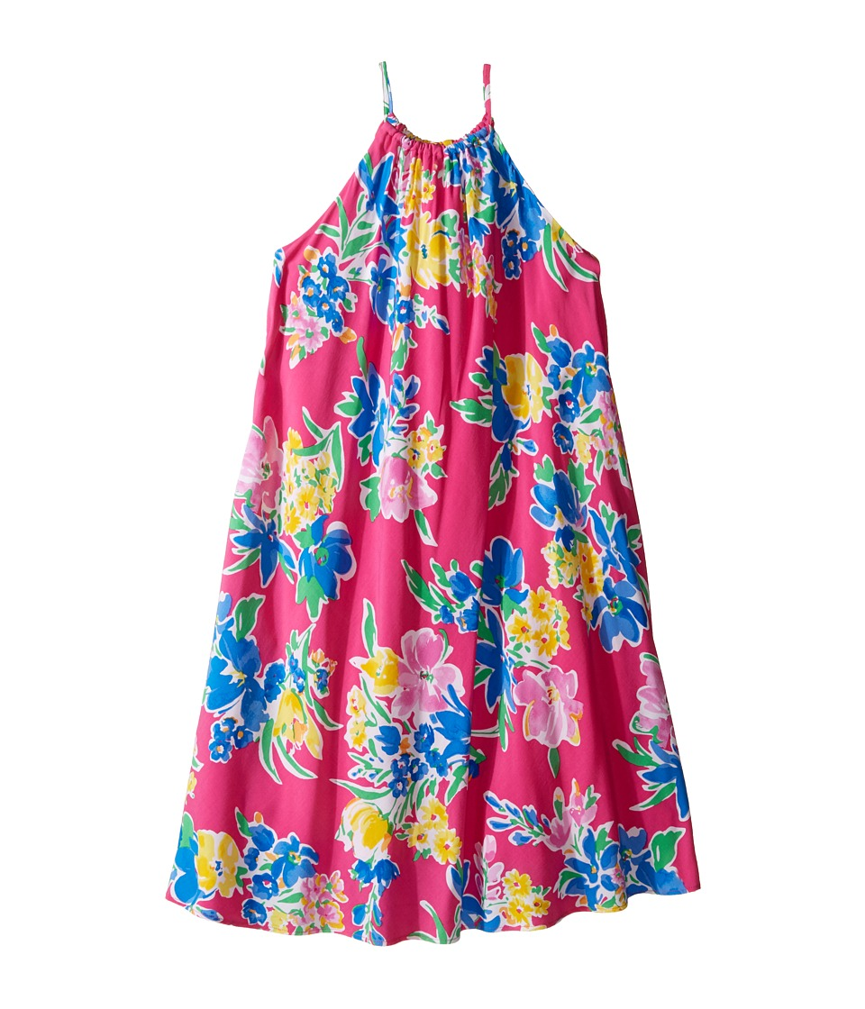 Polo Ralph Lauren Kids - Floral Halter Dress (Big Kids) (Magenta Multi) Girl's Dress