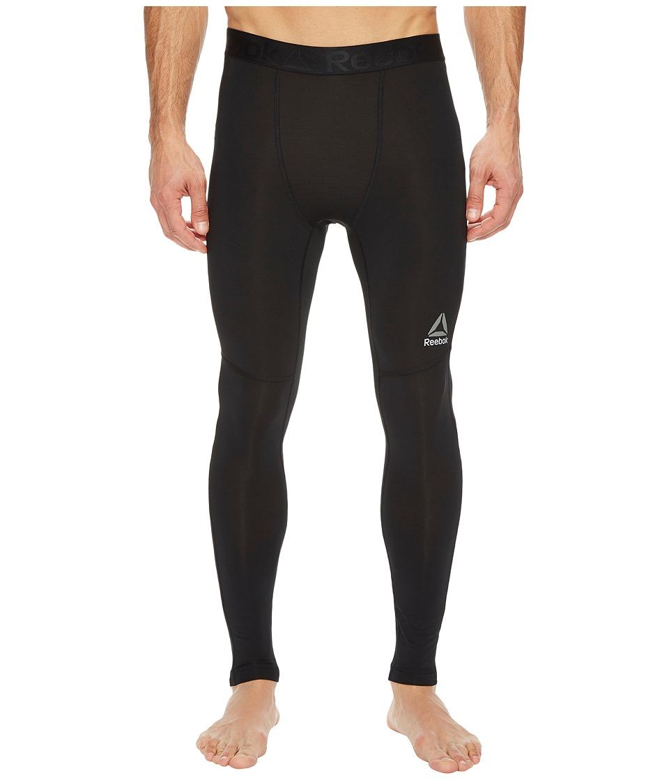Reebok - Mesh Ventilated Long Underwear (Black) Men's Workout