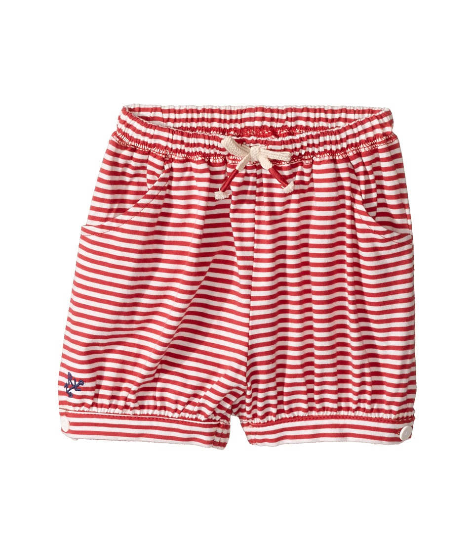 Ralph Lauren Baby - Jersey Stripe Knit Shorts (Infant) (Sedona Orange/Nevis) Girl's Shorts