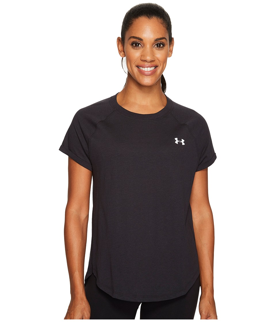 Under Armour - Tri-Blend Short Sleeve (Black/Graphite) Women's Clothing