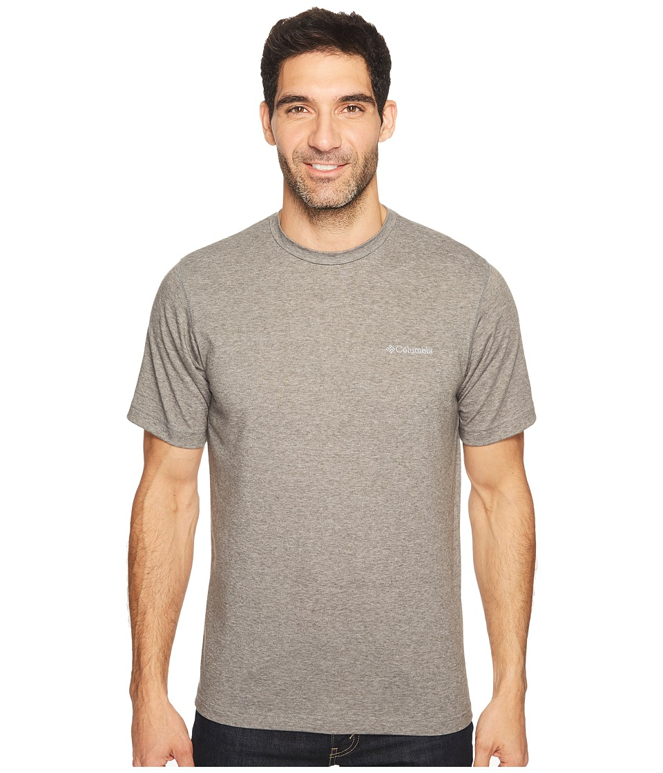 Columbia - Thistletown Park Crew (Charcoal Heather) Men's Short Sleeve Pullover
