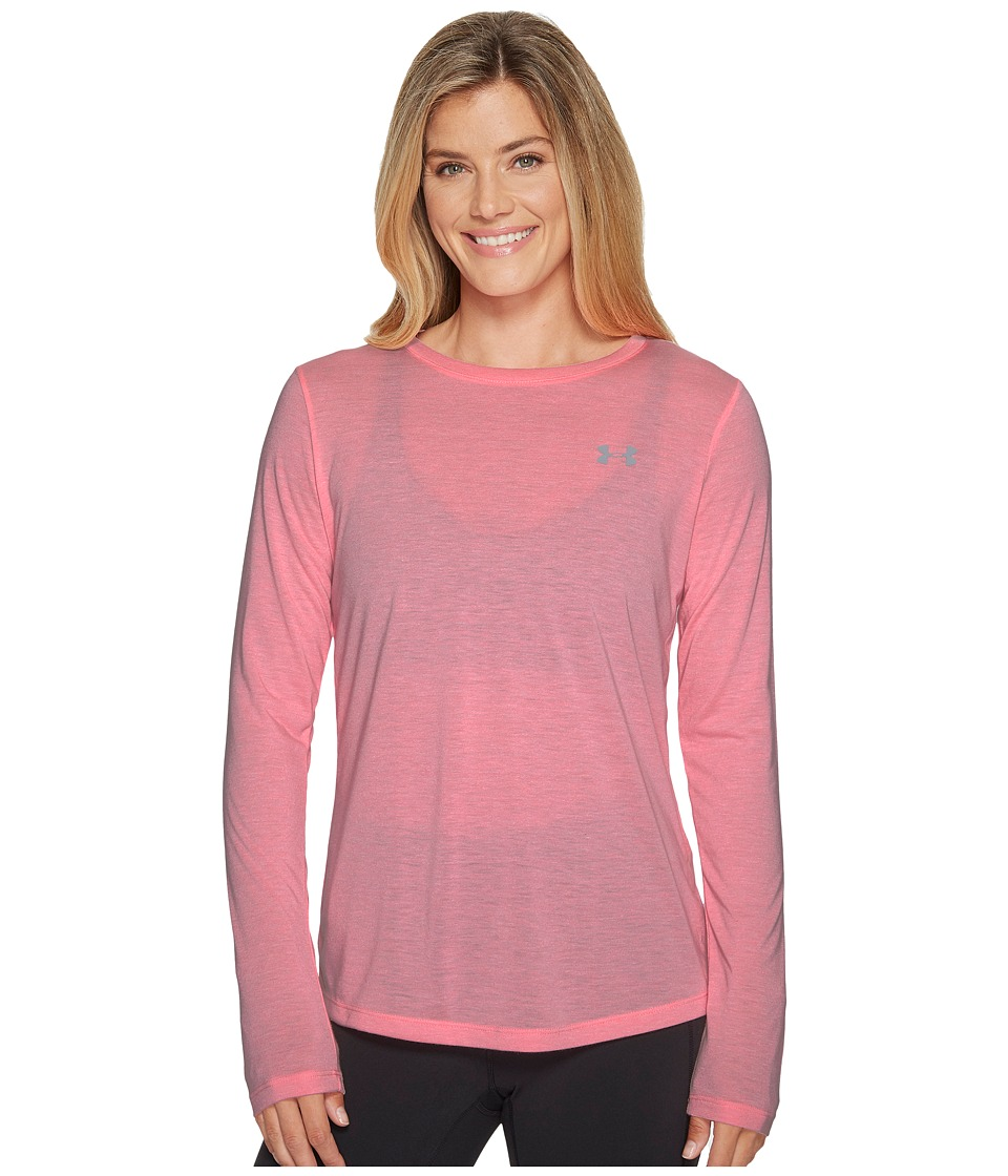 Under Armour Threadborne Train Long Sleeve Twist (Cape Coral/Overcast Gray) Women