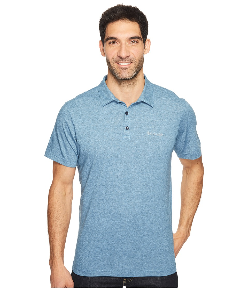Columbia - Thistletown Park Polo II (Blue Heron Heather) Men's Clothing