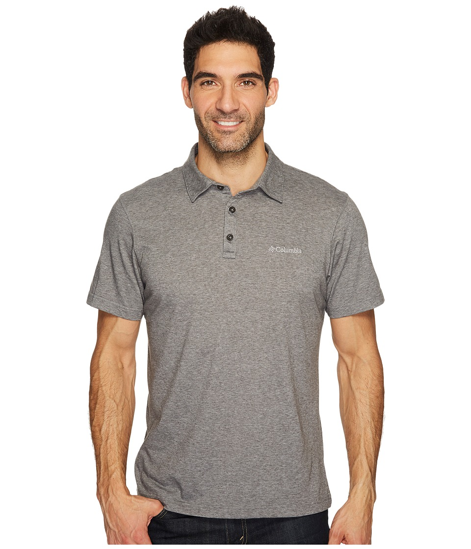 Columbia - Thistletown Park Polo II (Charcoal Heather) Men's Clothing
