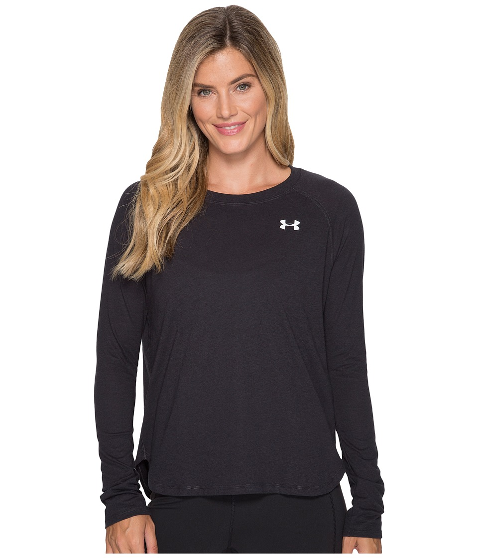 Under Armour Tri-Blend Long Sleeve Solid (Black/White) Women