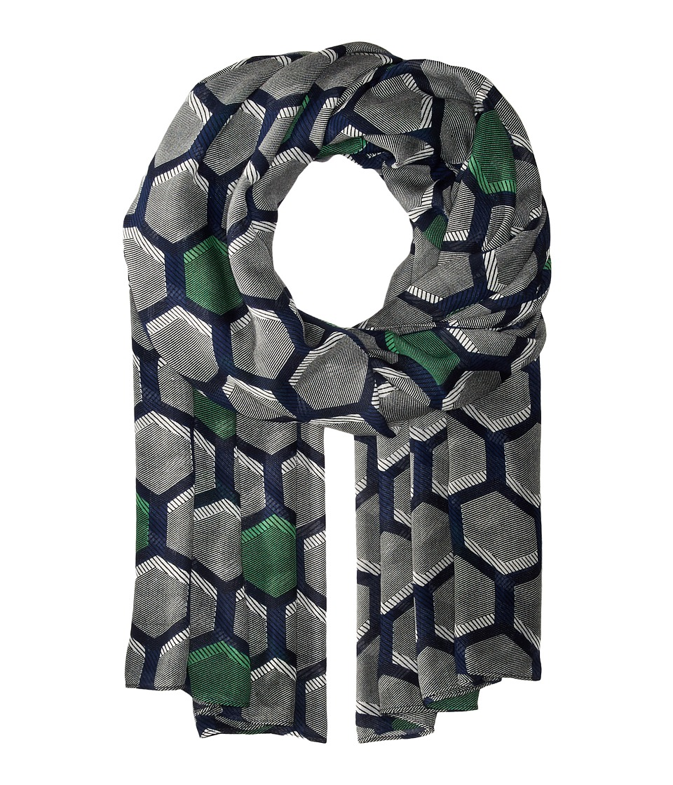 Liebeskind - F2179560 Modal Scarf (Orchid Green Hexagon) Scarves