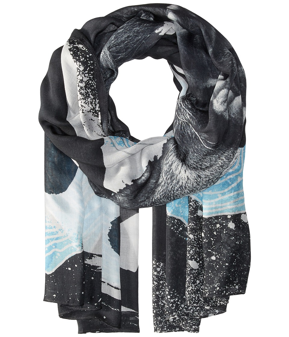 Liebeskind - F1179530 Modal Scarf (Sea Blue Lion) Scarves