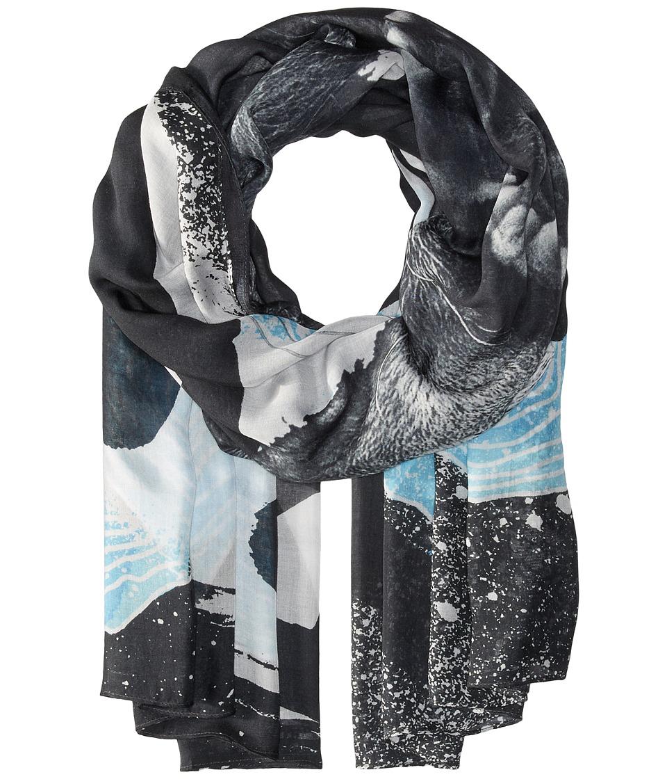 Liebeskind - F1179530 Modal Scarf (Sea Blue Lion) Scarves