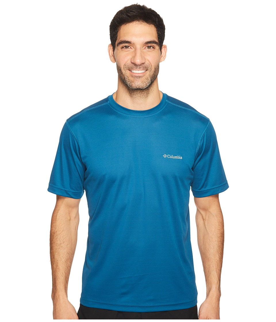 Columbia Meeker Peaktm Short Sleeve Crew (Phoenix Blue) Men