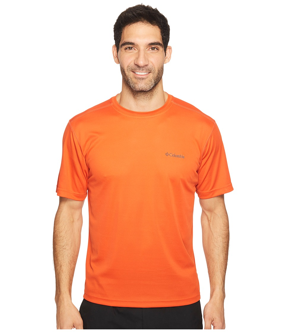 Columbia Meeker Peaktm Short Sleeve Crew (Hot Pepper) Men