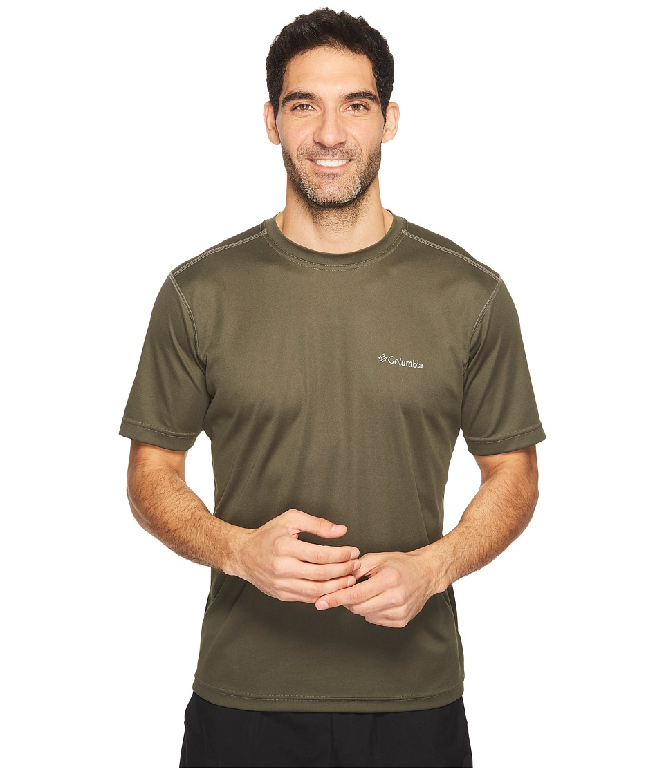 Columbia Meeker Peaktm Short Sleeve Crew (Surplus Green) Men