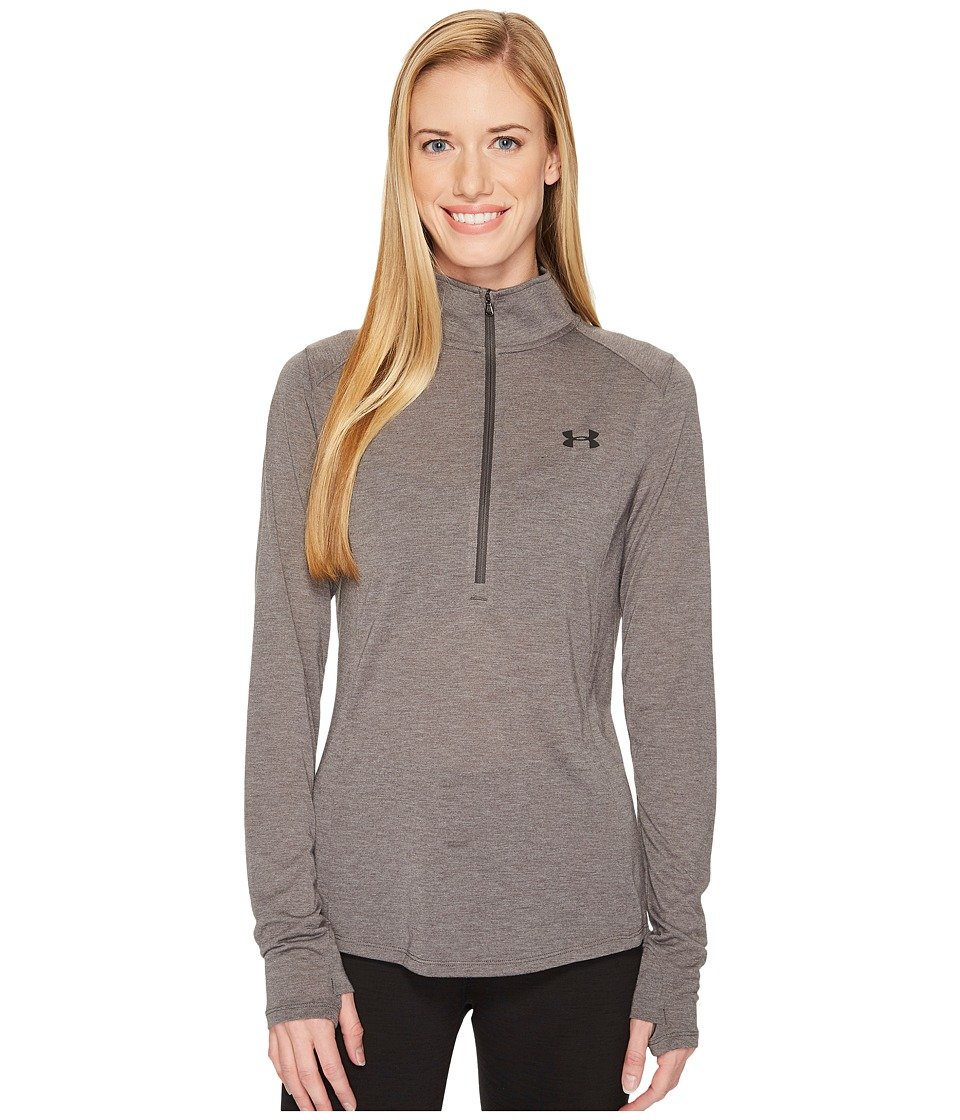 Under Armour Threadborne Train 1/2 Zip (Carbon Heather/Charcoal/Black) Women