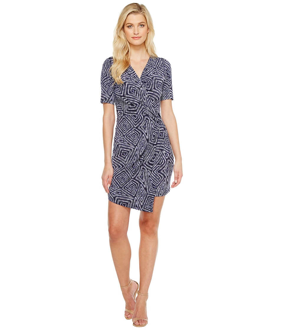 Karen Kane Crossover Drape Dress (Priint) Women