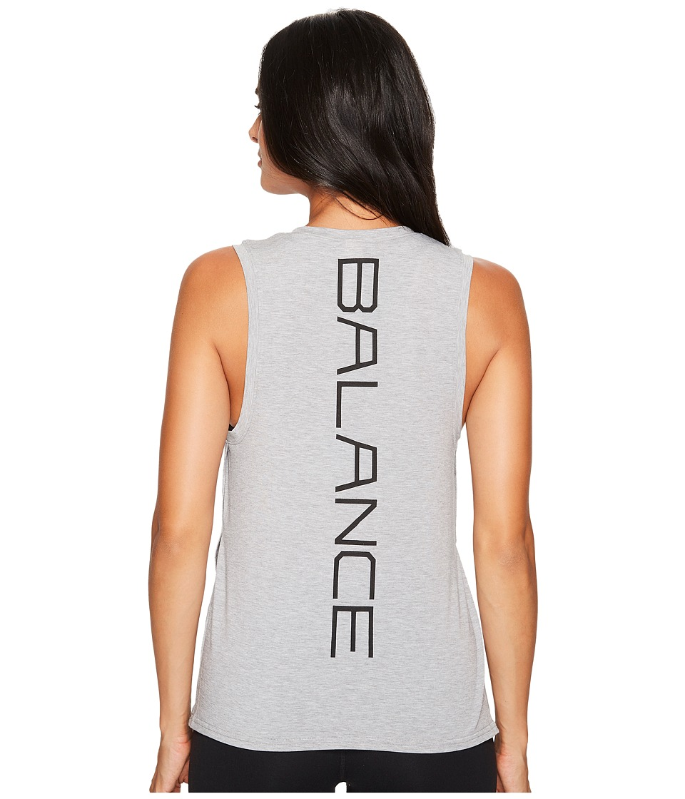 New Balance - Graphic Layering Tank Top (Athletic Grey) Women's Sleeveless