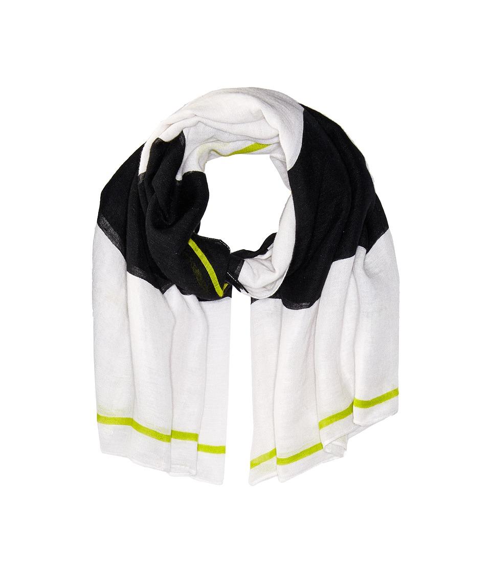 Liebeskind - S1179540 Linen Scarf (Ivory/White Stripes) Scarves