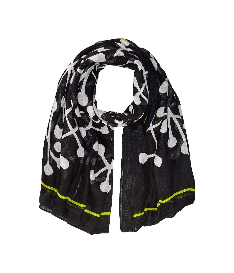 Liebeskind - S1179540 Linen Scarf (Nairobi Black Bones) Scarves