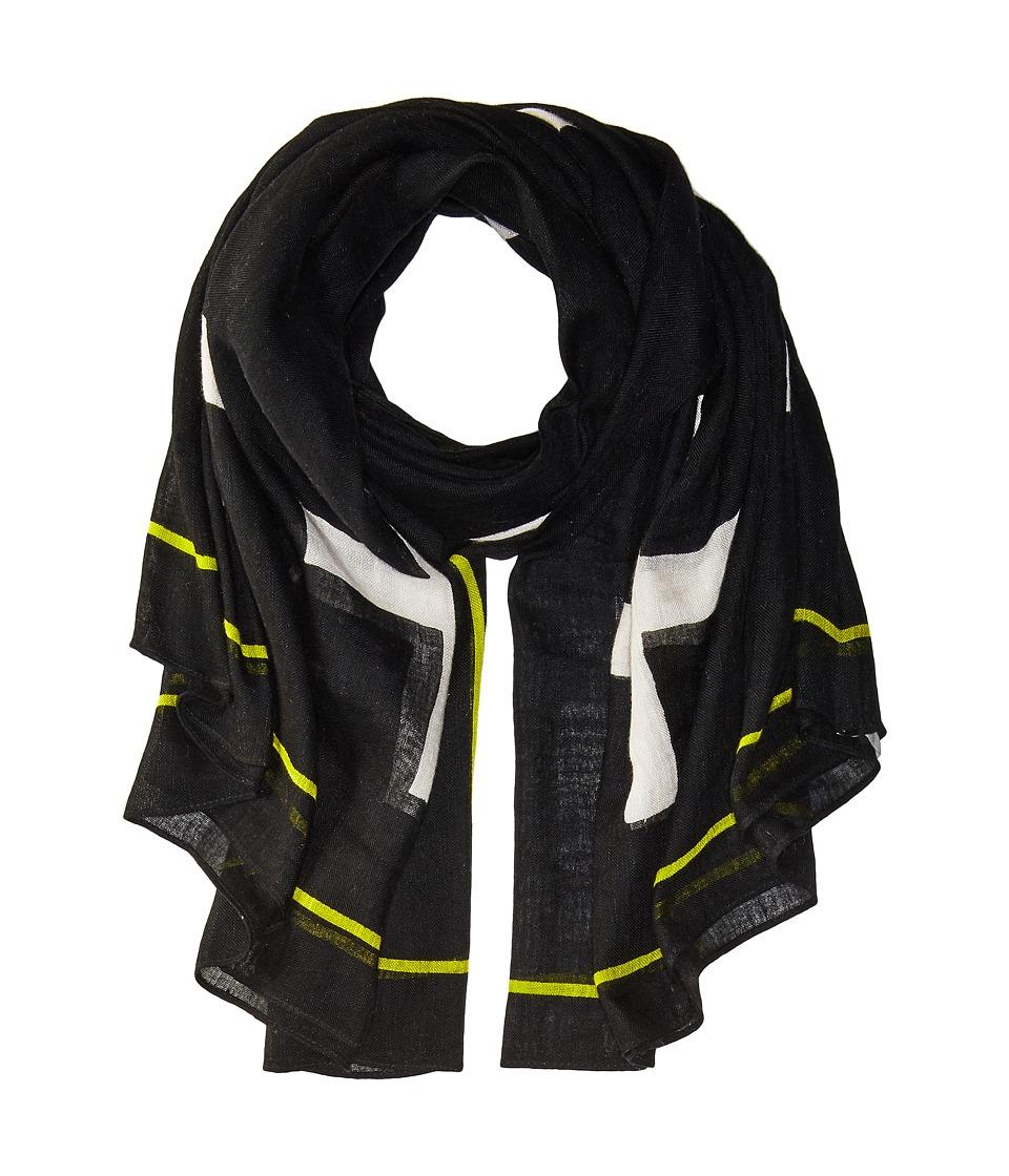 Liebeskind - S1179540 Linen Scarf (Nairobi Black Crosses) Scarves
