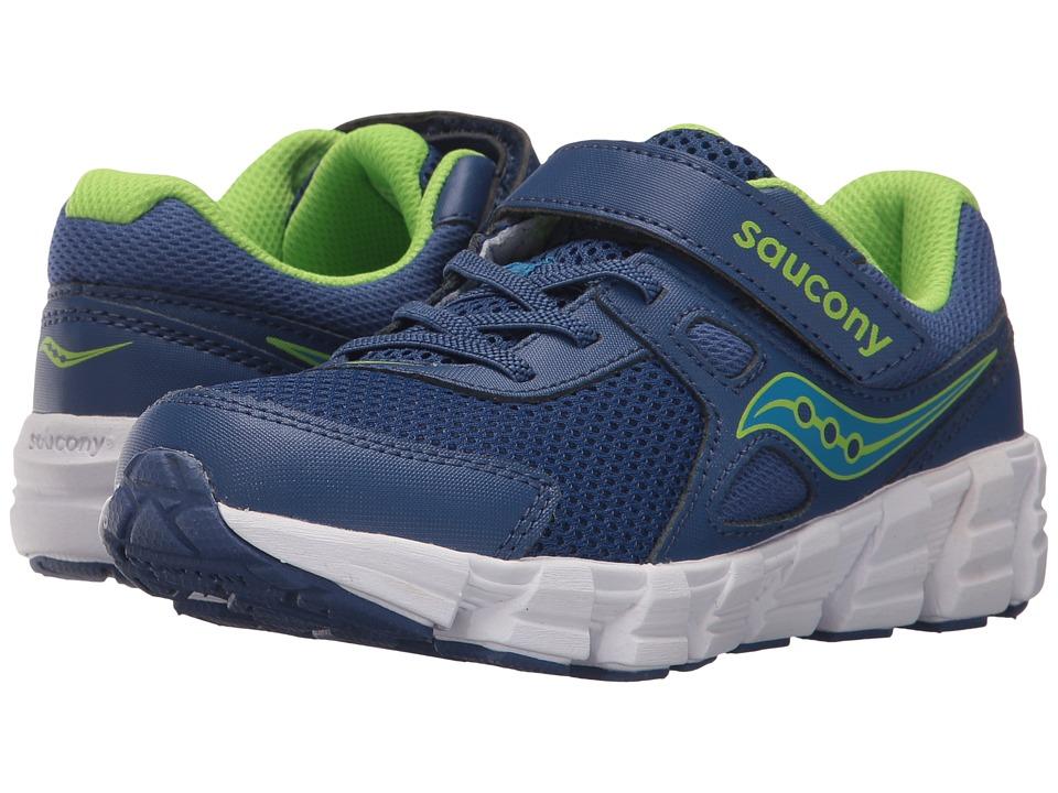Saucony Kids - Vortex A/C (Little Kid/Big Kid) (Blue/Green) Boy's Shoes