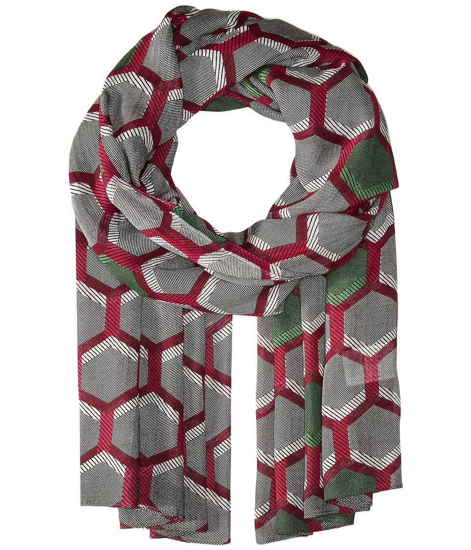 Liebeskind - F2179560 Modal Scarf (Fuchsia Pink Hexagon) Scarves