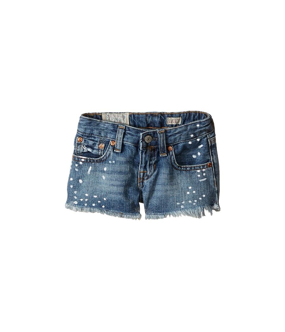 Polo Ralph Lauren Kids - Paint Splat Shorts in Jess Wash (Toddler) (Jess Wash) Girl's Jeans