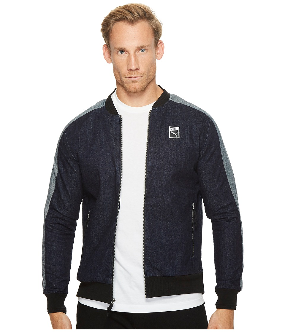 PUMA - Classic + T7 Denim Jacket (Peacoat/Denim Blue) Men's Coat
