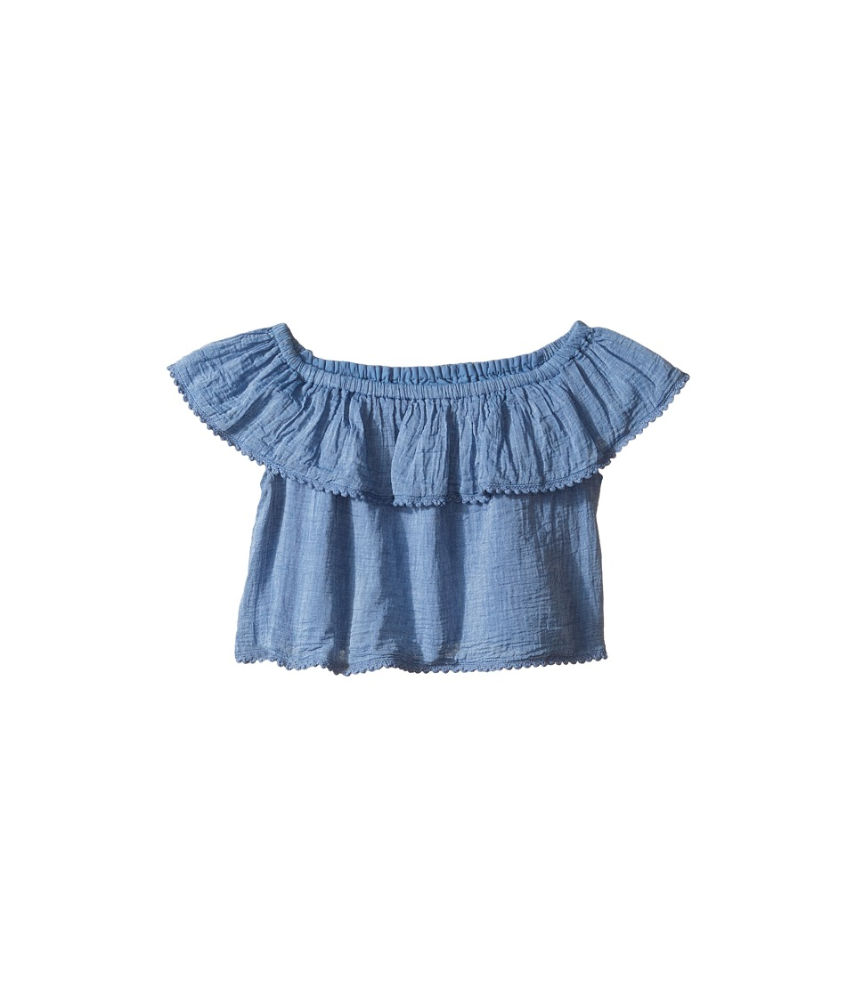 Polo Ralph Lauren Kids - Chambray Shirt (Toddler) (Chambray) Girl's Blouse