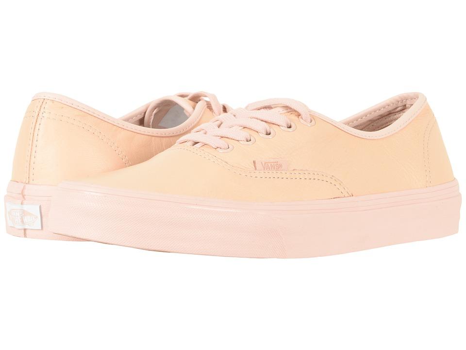 Vans - Authentictm ((Leather) Mono/Sepia Rose) Skate Shoes