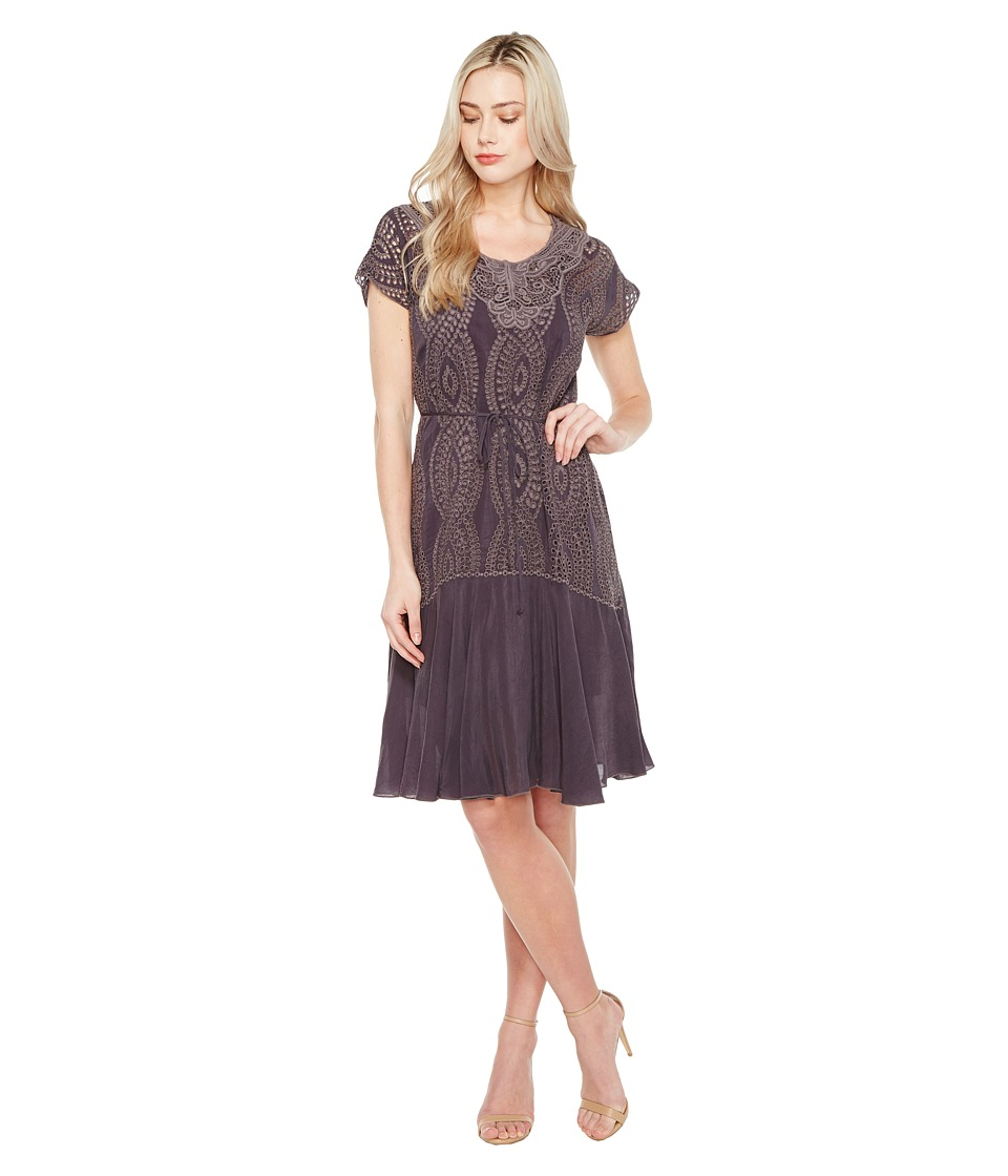 Johnny Was - Halfrid Dress w/ Slip (Grey Onyx) Women's Dress
