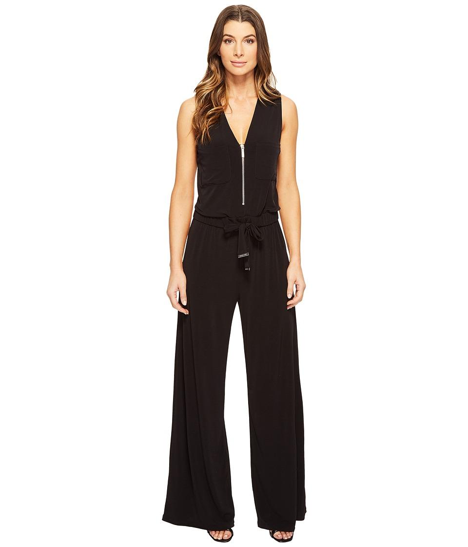 MICHAEL Michael Kors - Solid Jumpsuit with Pockets (Black) Women's Jumpsuit & Rompers One Piece