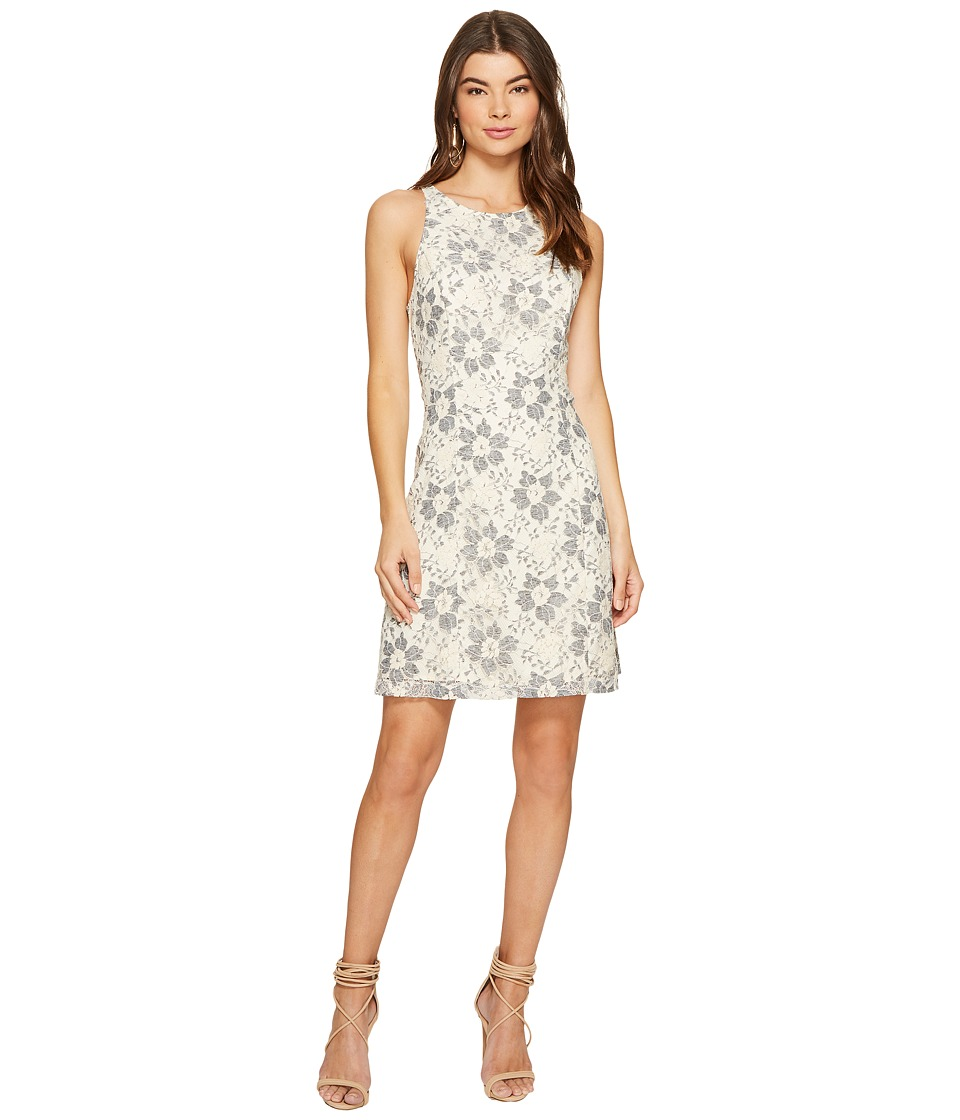 kensie - Blossom Lace Dress KS7K9593 (French Vanilla Combo) Women's Dress