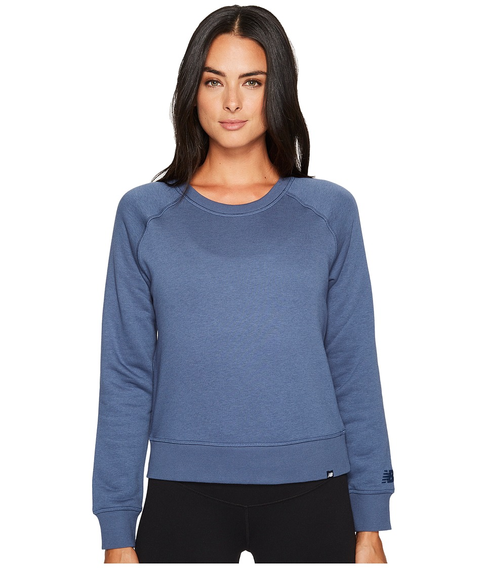 New Balance - Essentials Crew (Vintage Indigo) Women's Long Sleeve Pullover