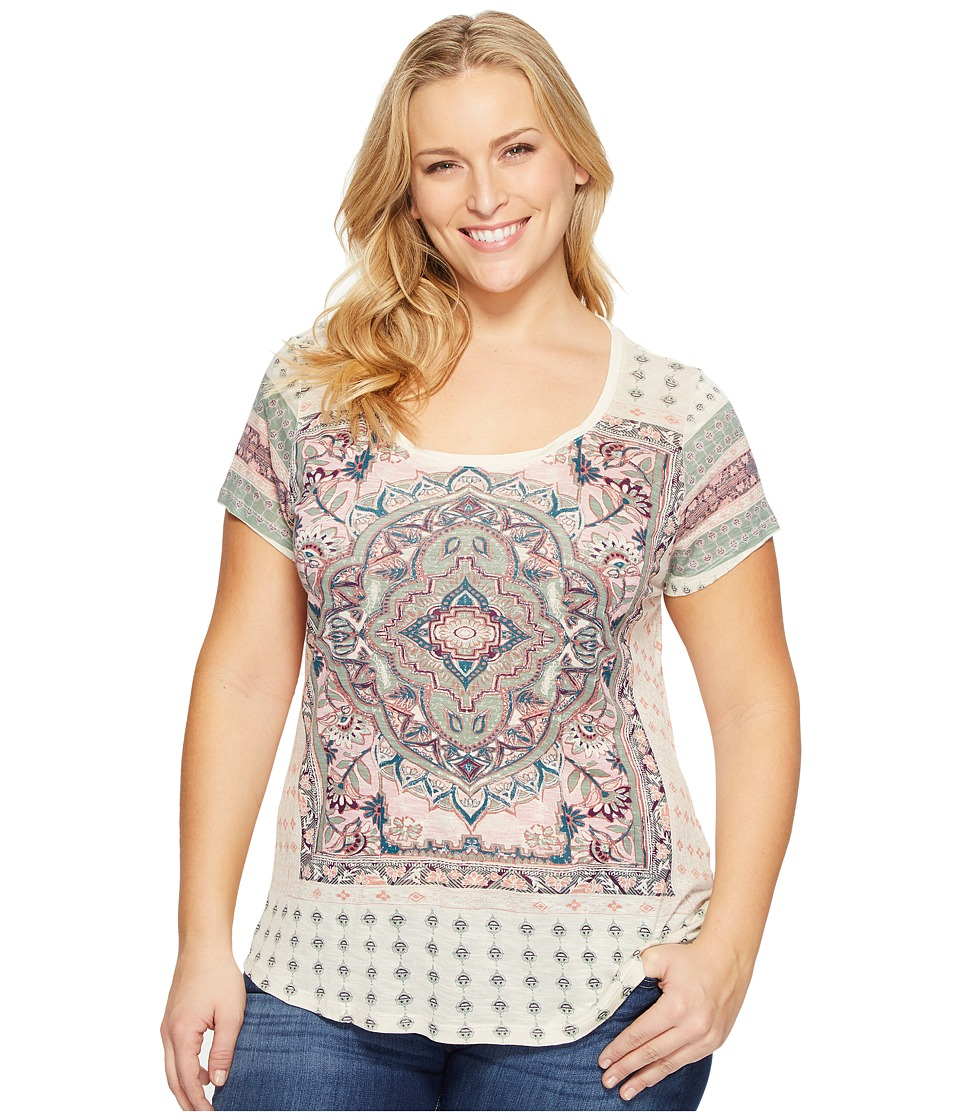 Lucky Brand - Plus Size Persian Carpet Tee (Green Multi) Women's T Shirt