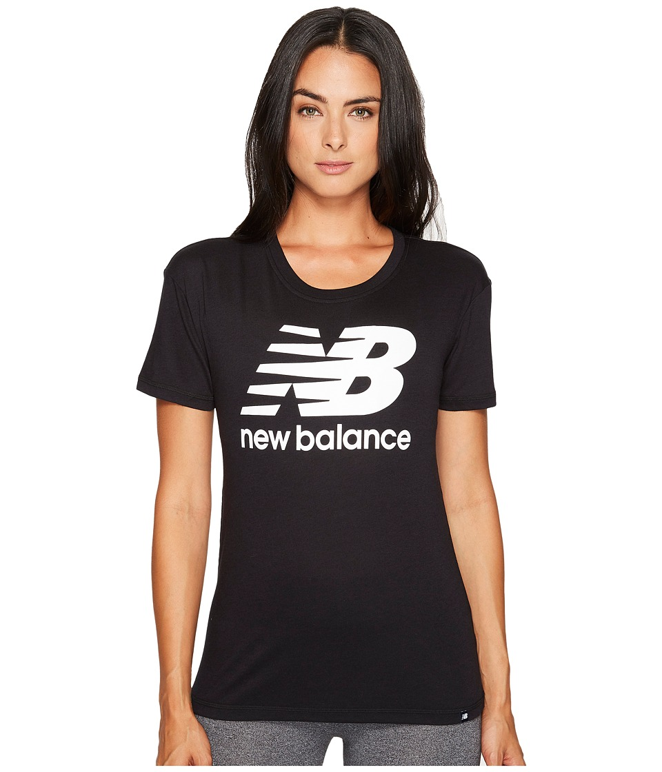 New Balance - NB Logo Tee (Black) Women's T Shirt