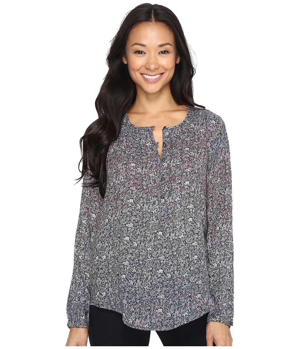 Lucky Brand - Floral Peasant Top (Multi) Women's Long Sleeve Pullover