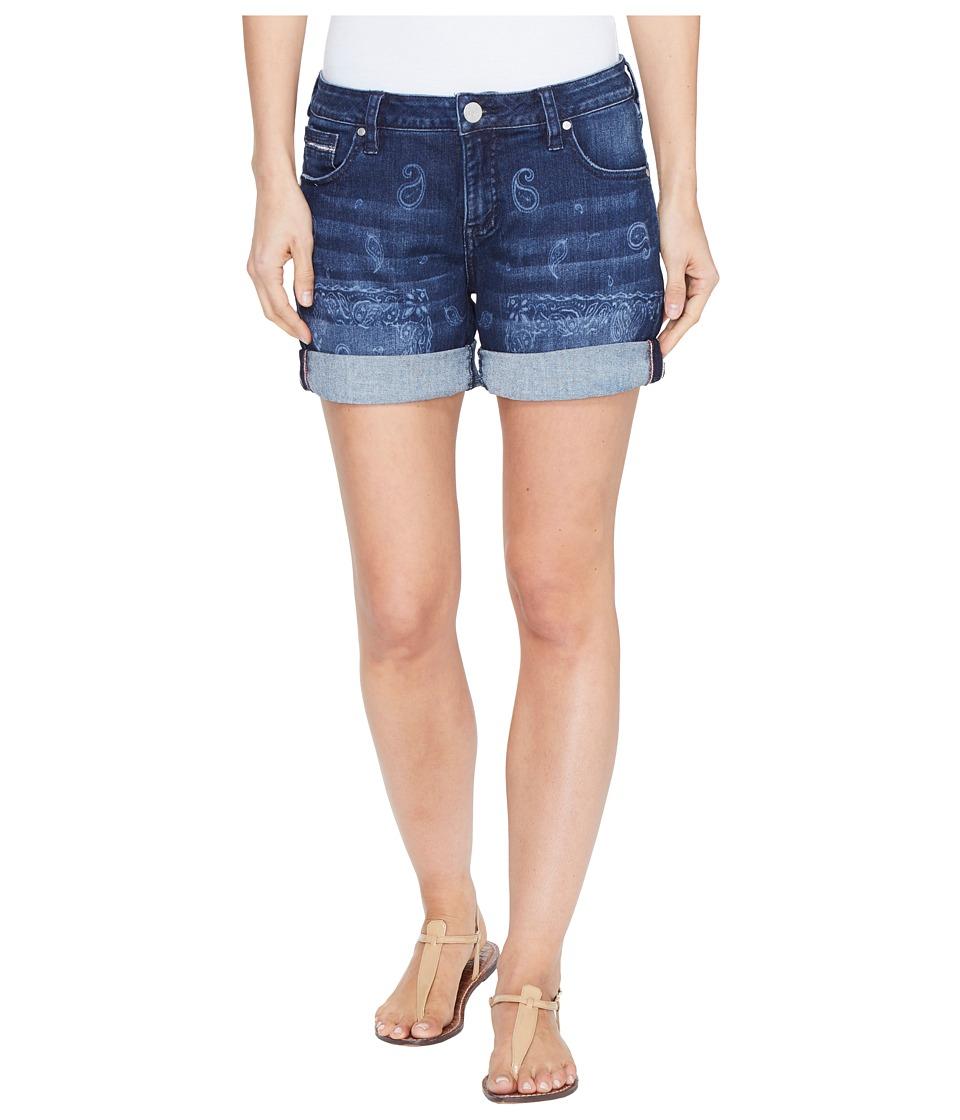 Jag Jeans - Alex Boyfriend Laser Printed Mission Denim Shorts in Rapid Dark (Rapid Dark/Bandana) Women's Shorts