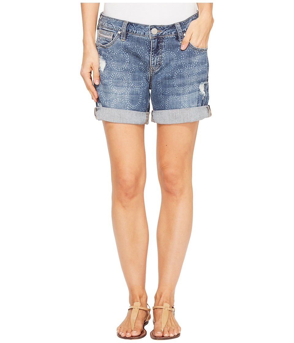 Jag Jeans - Alex Boyfriend Laser Printed Mission Denim Shorts in Cliff Wash (Cliff Wash/Circles) Women's Shorts