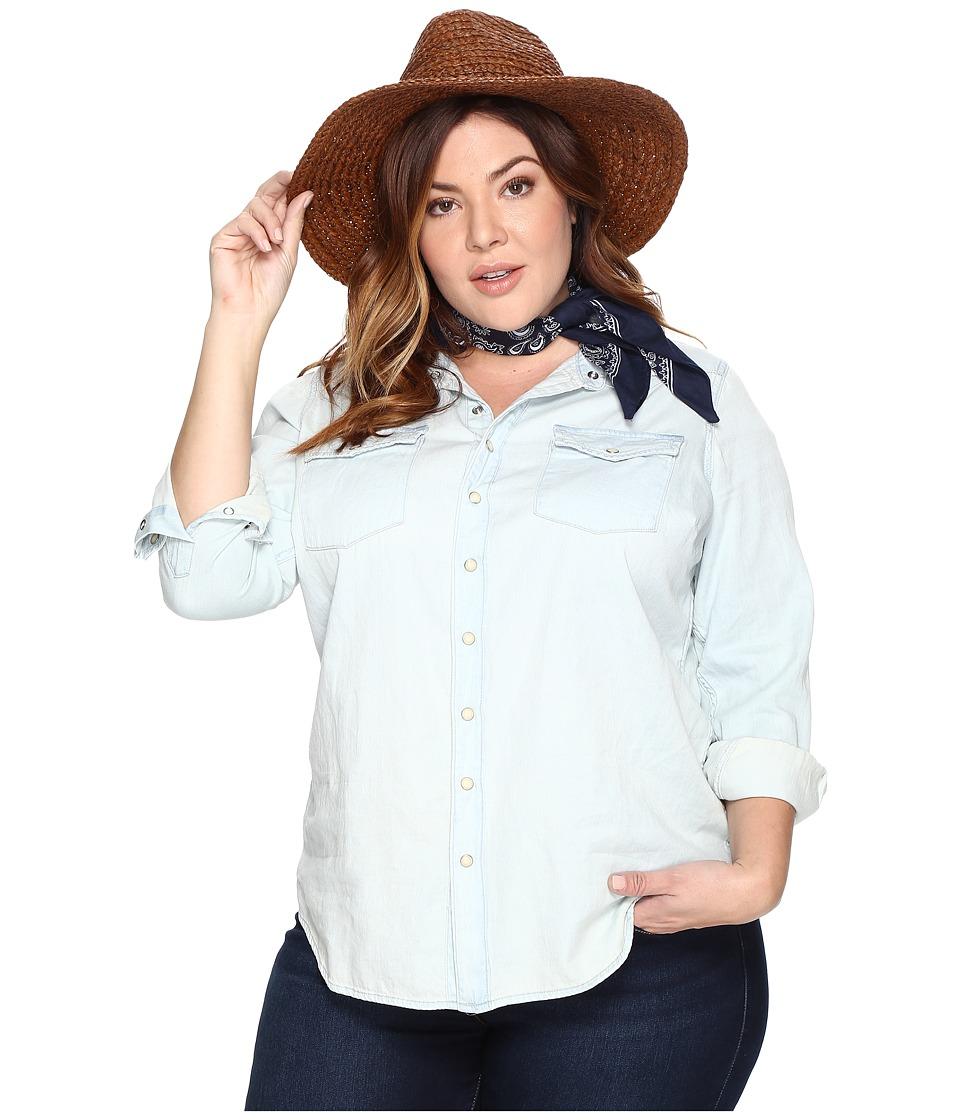 Lucky Brand Plus Size Classic Western Shirt (Sherman) Women