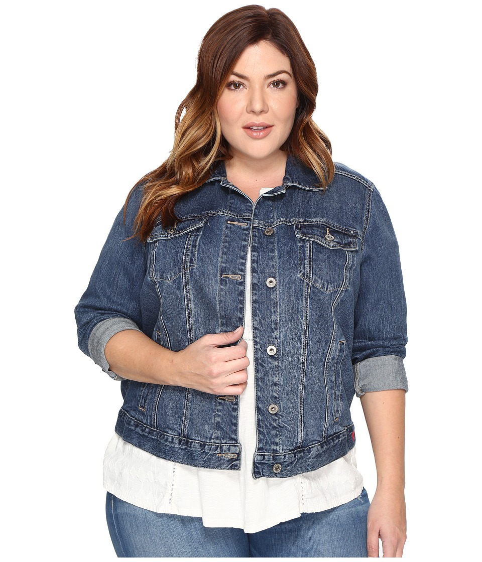 Lucky Brand - Plus Size Classic Trucker Jacket (Tanoak) Women's Jacket