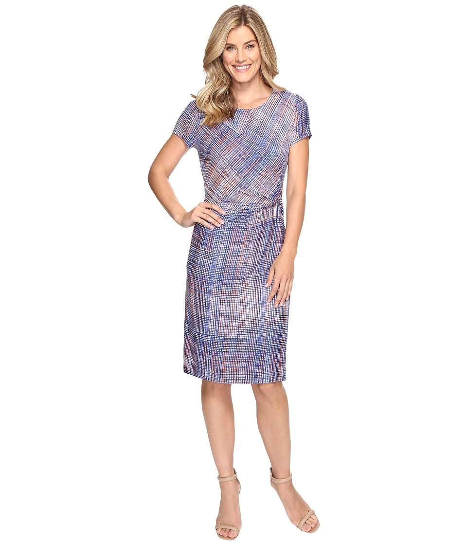 NIC+ZOE Checked Out Dress (Multi) Women