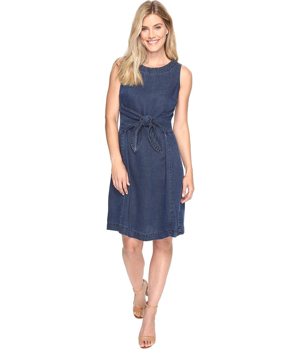 NIC+ZOE - Denim Days Tie Dress (Rich Indigo) Women's Dress