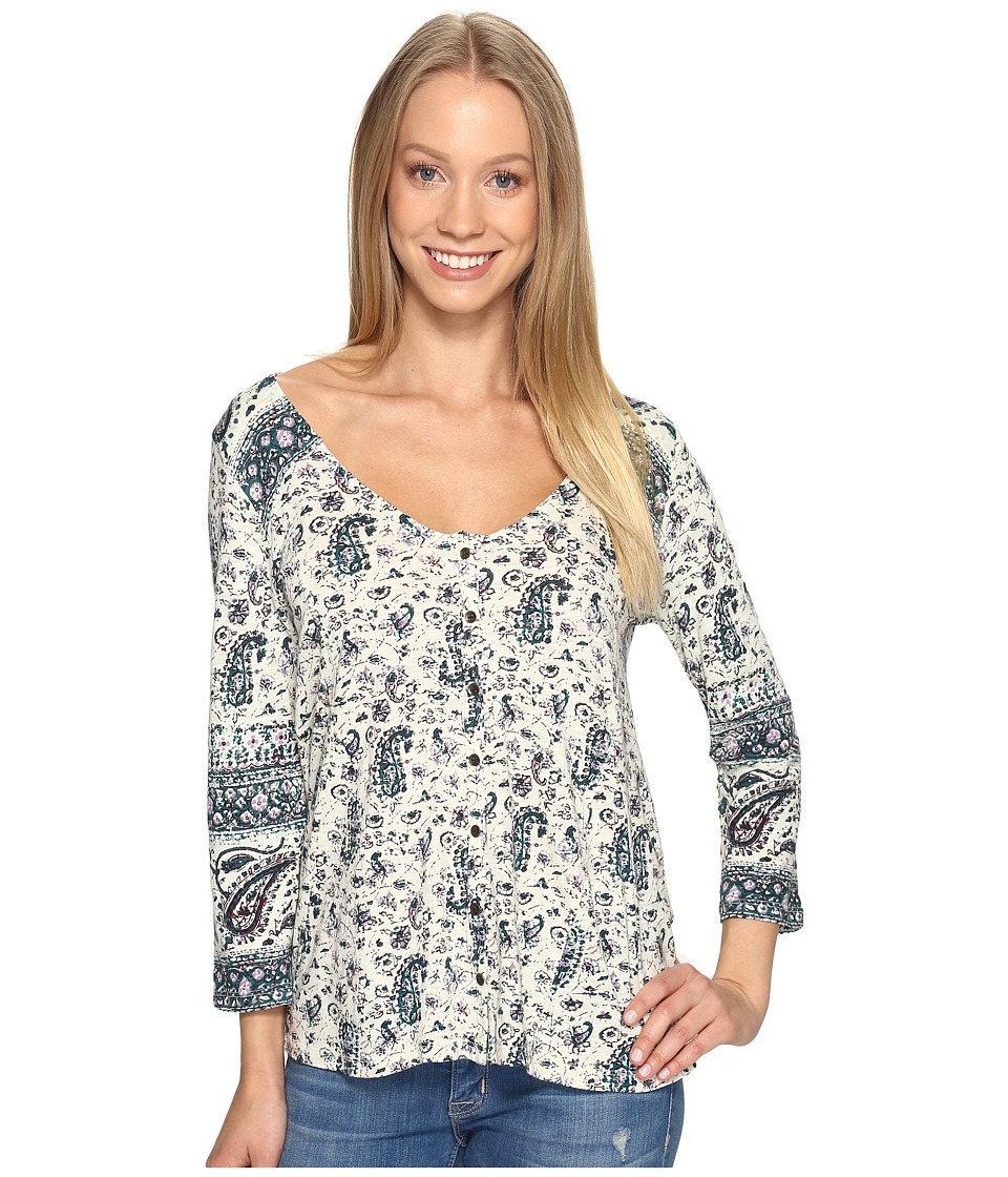 Lucky Brand - Paisley Swing Top (Multi) Women's Clothing