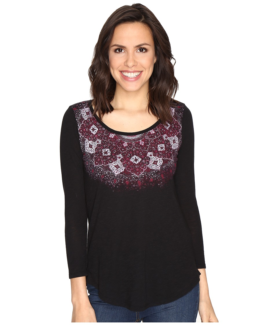 Lucky Brand - Rug Mandala Top (Lucky Black) Women's Clothing