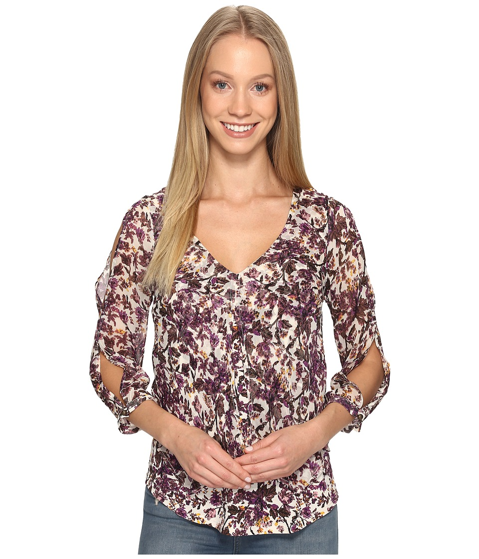 Lucky Brand - Floral Printed Top (Multi) Women's Clothing