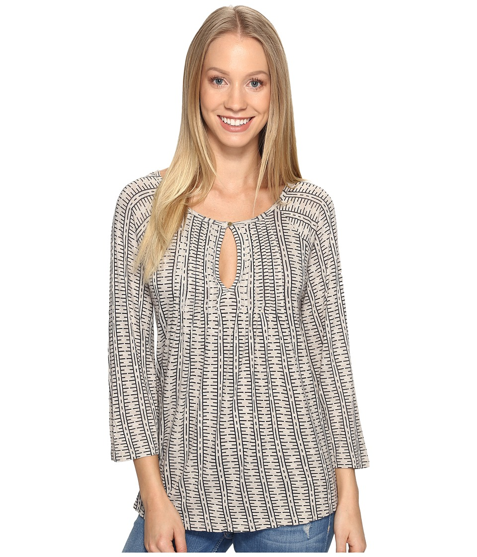 Lucky Brand - Modern Printed Top (Grey Multi) Women's Clothing
